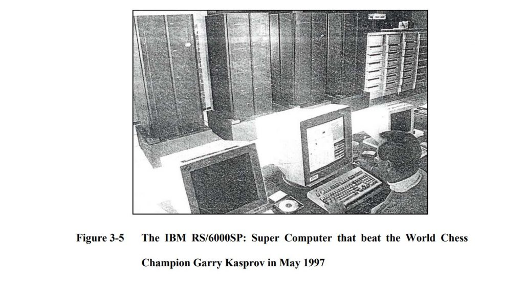 The IBM RS/6000SP: Super Computer that beat the World Chess Champion Garry Kasprov in May 1997